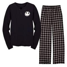 Disney Nightmare Before Christmas Jack Skellington Pajamas Set