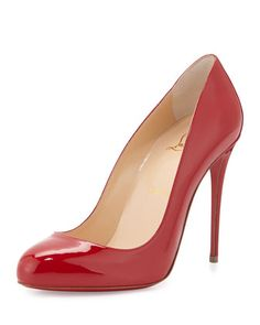 Dorissima Patent Red Sole Pump, Red by Christian Louboutin at Neiman Marcus.