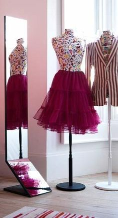 Pretty or vintage outfits on dressforms would be fabulous decor