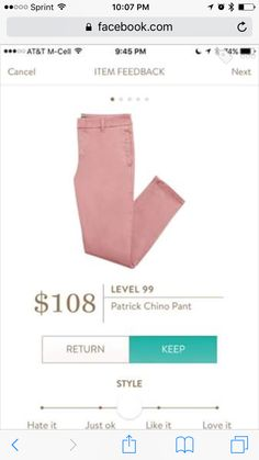 Hello StitchFix Stylist, I love the soft pink color of these pants for Spring. I don't have anything like them in my closet. I would love to have them.