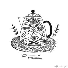 Flora Waycott -Inktober Day 11 - lots of tea today as I am feeling under the weather xx