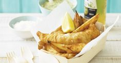 The winner of this week's Easter food fight will be welcomed by those looking to eat fish on Good Friday. food fish Beer-battered fish and chips Fish Recipes, Seafood Recipes, Snack Recipes, Cooking Recipes, Savoury Recipes, Sweet Recipes, Aussie Food, Australian Food, Australian Recipes
