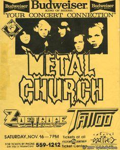 Metal Church 11.16.85