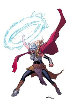 """Recently, the enchantment on the hammer changed. Instead of being """"Whosoever holds this hammer, if he be worthy, shall possess the power of Thor,"""" it now read """"If she be worthy,"""" as Jane Foster became the new Thor. Mjolnir now has a life of its own, as even Odin cannot lift it anymore!"""