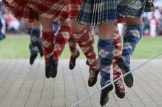 Highland dancing at the Cowal Games, Dunoon, Argyllshire