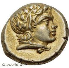 Ancient Greek: LESBOS. Mytilene. EL Hekte (Circa 377-326 BC).Gold Oro Or #423