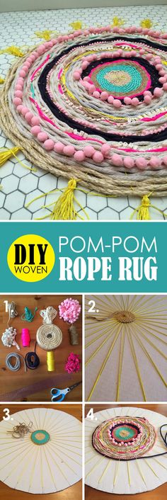 Alternating Rope and Pom-Pom Design