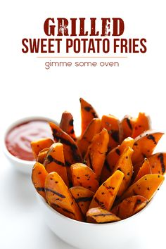 Grilled Sweet Potato Fries | gimmesomeoven.com