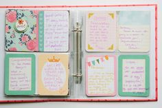 Baby Shower idea - notes to baby using PL kit.
