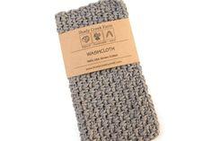 Washcloth Dishcloth  gray washcloth cotton by ShadyCreekFarmNC