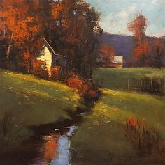 amber light by Romona Youngquist Oil ~ 30 x 30