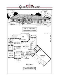2344-R Bedroom Corner, Wooden Rack, Traditional House Plans, Barndominium, Big Houses, House Goals, House Floor Plans, Great Rooms, Future House