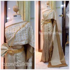 """Thai bridal dress from """"facebook.com/besilkthai"""""""