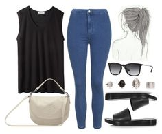 """""""Style #8333"""" by vany-alvarado ❤ liked on Polyvore featuring Topshop, T By Alexander Wang, Mulberry and Ray-Ban"""