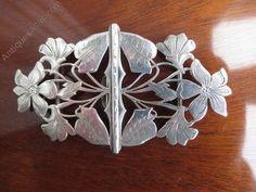 Antiques Atlas - Art Nouveau Solid Silver Buckle 1902