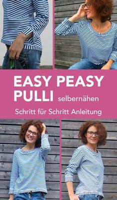 Schnittmuster und Nähanleitung für Pulli #Pulli nähen Damen #Pulli