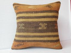 40 YOLD Turkish Kilim Pillow Covers Anatolian Handwoven by DECOLIC. $35