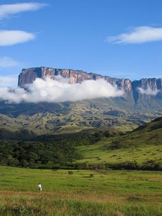 Kukenan Tepui, Venezuela Kukenan from camp 1 at about Getting ready for another tough day of walking Monte Roraima, Travel Around The World, Around The Worlds, South America Travel, Beautiful Places To Visit, Natural Wonders, Wonders Of The World, Adventure Travel, Central America