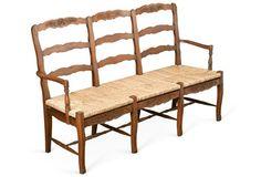 Alexandra 3-Seater Bench, Honey/Straw
