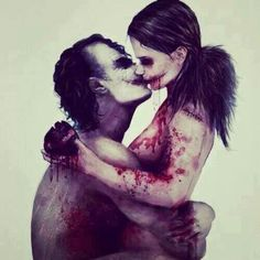 I love this photo of the Joker and Harley Quinn