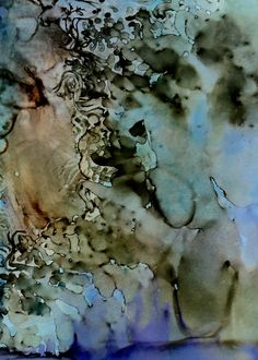 Abstract painting by Shirley Johnson. Alcohol ink on Yupo paper
