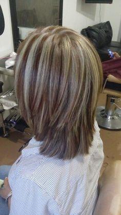 My hair cut my hair color Medium Hair Cuts, Short Hair Cuts, Medium Hair Styles, Short Hair Styles, Haircuts For Fine Hair, Bob Hairstyles, Brown Blonde Hair, Cut My Hair, Hair Health