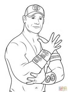 john cena coloring pages sketch template
