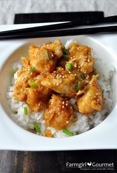 Oven-Fried Orange Chicken - Farmgirl Gourmet