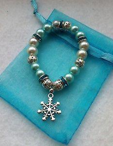 Frozen party favours for loot bags - Elsa pearl Bracelets