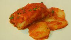 Receta de lomo de bacalao al horno en salsa de tomate