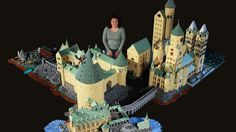 Harry Potter fan builds full scale Hogwarts School out of LEGO | This is AMAZING!!!