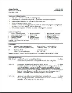federal government resume format