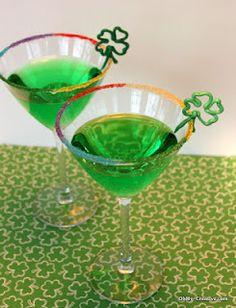 Add a rainbow rim of sugar to glasses!