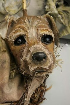 close up of the His Dark Materials puppet