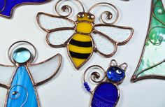 Stained glass ornaments, home decor, housewarming