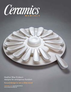 Ceramics Monthly February 2008 Issue Cover, On the Cover: Appetizer Platter by Heather Mae Erickson