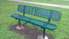Bench at Veteran's Park in Seguin, TX...so nice they included (as they should have) the 5th branch of the military.  So often, the USCG is left out.  Go Coast Guard!