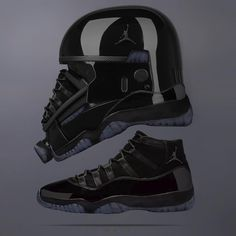 "designer fashion a30f1 9b30e Jeff Cole on Instagram  ""Air Death  Trooper 11 "" Cap   Gown ""  starwars x   jumpman23 🖤 Who s copping on the 26th "" Air Jordan SneakersJordans ..."