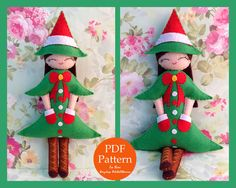 Christmas Tree Doll. Felt Doll. PDF Pattern and Tutorial. Christmas Pattern. by FeltDollManiac on Etsy https://www.etsy.com/listing/212123861/christmas-tree-doll-felt-doll-pdf