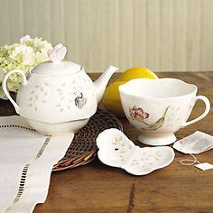 Lenox Butterfly Meadow Stackable Tea Set
