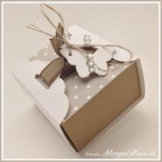 Stampin Up - Stempelherz - Pralinenschachtel - Verpackung - Box - Schmetterlingsstanze - Stanze Gewellter Anhänger - Pralinenverpackung Schmetterling 01