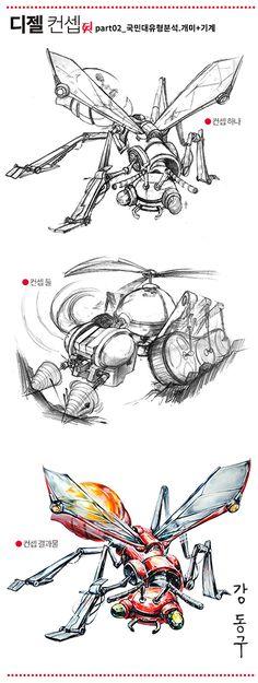 강동구 디젤미술학원의 디젤 컨셉 part 2. 국민대 유형분석 '개미 +기계' 문제 해결 제안작입니다. : 네이버 블로그#기초소양평가#기초조형#국민대실기#서울대실기#서울대기초소양평가#발상과표현#사고의전환#개미#기계구조#디젤미술학원#강동구쌤 Mechanical Design, Steampunk, Drawings, Blog, Painting, Animals, Painting Art, Sketches, Blogging