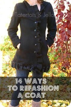 14 easy ways to Refashion a winter coat! I love a good refashion.