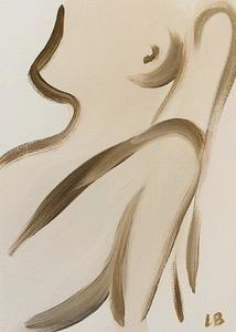 Silhouette 01, 2020 – Gabriella Le Blanc Art Paint Brushes, Silhouette, Oil, Paper, Butter