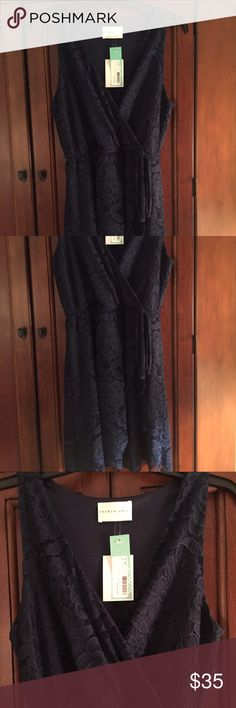 Lace Dress Beautiful Blue sleeveless fully lined lace dress.   Perfect for the holidays!  Brand new with tags! Dresses Midi