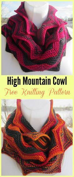 High Mountain Cowl Free Knitting Pattern