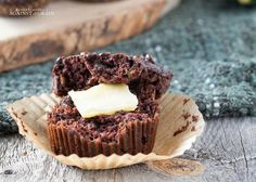 A paleo and gluten-free recipe for nut-free Chocolate Zucchini Muffins