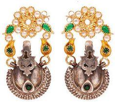boticca.com Kasturjewels Bell gold/silver earrings from Boticca on shopstyle.co.uk