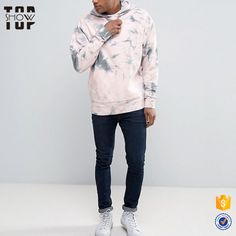 2017 trending products tie-dye fleece hoodie men drawstring hood