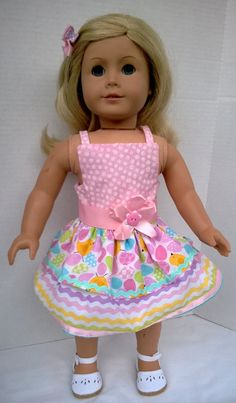 American Girl Doll Clothes  Easter or Spring by PixieandLackie, $21.00